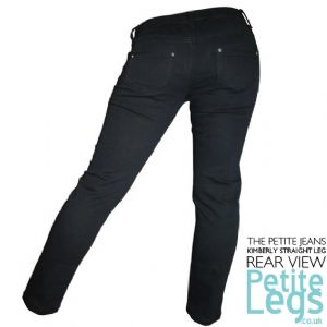 Kimberly Black Slim Leg Jeans | UK Size 8-10 | Petite Leg Inseam 25 inches
